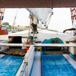 Sailing In A Felucca On The Nile In Aswan