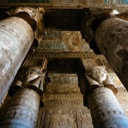 Explore The Temple Of Hathor At Dendera